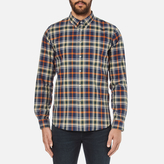 Ps By Paul Smith Checked Long Sleeve Shirt Navy