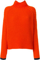 Victoria Beckham oversized roll neck jumper - women - Acrylic/Wool - S