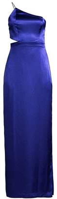 Aidan Mattox Satin One Shoulder Gown