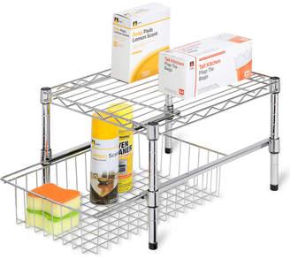 Honey-Can-Do Adjustable Shelf With Basket Cabinet Organizer