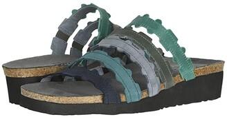Naot Footwear Adina (Oily Emerald Nubuck/Blue Nubuck Combination) Women's Shoes