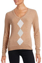 Lord & Taylor Petite Argyle Cashmere Sweater