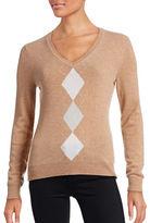 Lord & Taylor Petite Argyle Cashmere Sweater