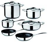Mepra 10-Piece 18/10 Non-Stick Stainless Steel Cookware Set