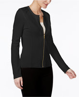 Calvin Klein Textured Knit Moto Jacket