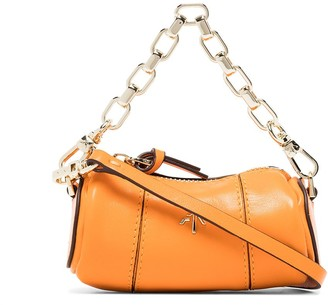 MANU Atelier Micro Cylinder chain-trimmed bag