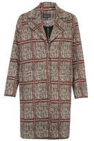 Topshop Mosaic tile print jersey coat