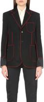 Yang Li Contrast stitch wool blazer