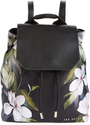 Ted Baker Trindy Opal Floral Print Drawstring Backpack
