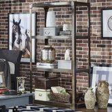 HomeVance Harthan Industrial Wide Bookshelf