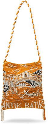 Antik Batik Venezia Tasseled Cotton-jacquard Shoulder Bag