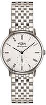Rotary Gb90050/01 Les Originales Kensington Bracelet Strap Watch, Silver/white