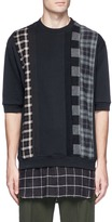 3.1 Phillip Lim Check plaid patchwork French terry T-shirt