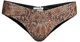 WeWoreWhat Women's Delilah Snakeskin-Print Bikini Bottom