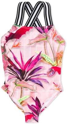 Molo Kids foliage print swimsuit