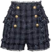Balmain Tweed High Waisted Shorts