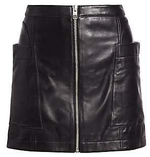 Ksubi Women's Vault Leather Mini Zip Skirt