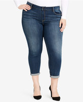 Jessica Simpson Trendy Plus Size Skinny Ankle Jeans