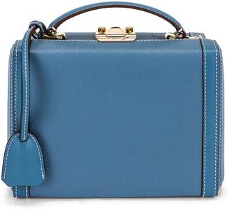 Mark Cross Small Grace Box Bag in Copen Blue | FWRD