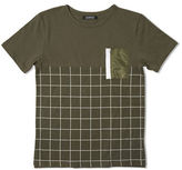 Elwood Square Printed Zippered Pocket Football Tee
