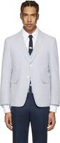 Thom Browne Blue Classic Seersucker Blazer