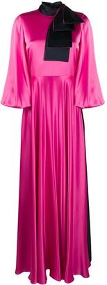 Roksanda Flared Silk Maxi Dress