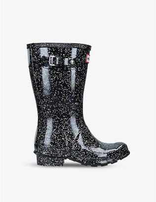 Hunter Original glitter-embellished wellington boots 7-10 years