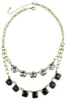 Lovestruck LOVE STRUCK love struck Jet Black Stone and Crystal Two-Row Necklace