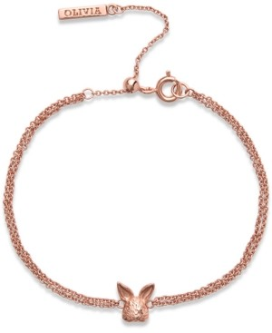 Olivia Burton Bunny Chain Link Bracelet in Rose Gold-Plated Brass