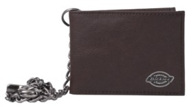 Dickies Security Leather Slimfold Men's Wallet with Chain