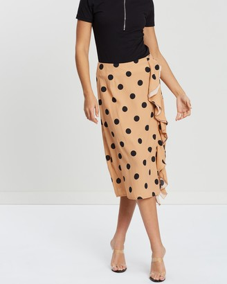 Missguided Ruffle Front Skirt