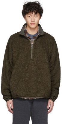 Remi Relief Khaki Fleece Half-Zip Sweater