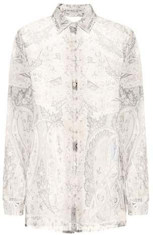 Etro Printed organza blouse