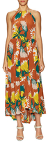 Tracy Reese Printed Maxi Halter Dress