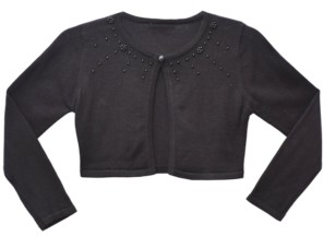 Bonnie Jean Little Girl Long Sleeve Embellished Fly Away Cardigan
