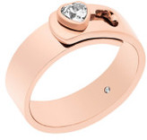 Michael Kors Brilliance Rose Gold Steel And Cubic Zirconia Ring