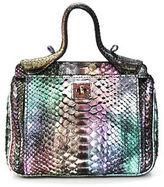 Zagliani Multi Color Metallic Python Snakeskin Fall 2011 Satchel Handbag