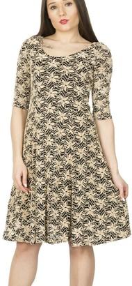 M&Co Izabel fit and flare skater dress
