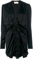 Saint Laurent ruched mini dress - women - Silk/Viscose - 38