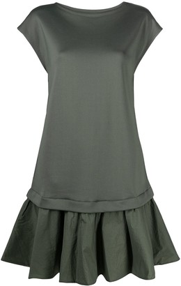 Emporio Armani Ruffled-Hem Jersey Dress