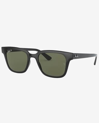 Express Ray-Ban Black Polarized Square Sunglasses