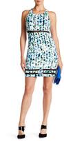 GUESS Floral Mix Media Midi Dress