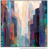United Artworks Towers Canvas Painting With Floating Frame