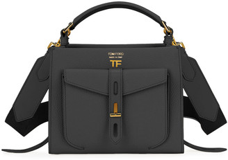 Tom Ford T Twist Mini Rialto Grain Top-Handle Bag