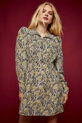 Topshop IDOL Paisley Print Mini Dress