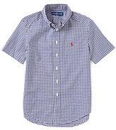 Ralph Lauren Big Boys 8-20 Gingham-Checked Poplin Short-Sleeve Shirt