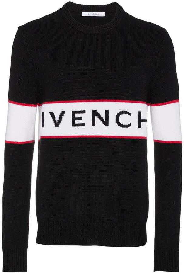 Givenchy logo intarsia jumper