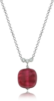 Antica Murrina Veneziana Florinda Ruby Murano Glass Sterling Silver Necklace