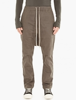 Rick Owens Darkdust Dropped-Crotch Trousers
