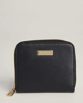 Furla Black Saffiano Leather Classic Zip-Around Wallet